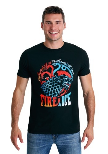 Game of Thrones: Fire & Ice Men's Black T-Shirt Update1