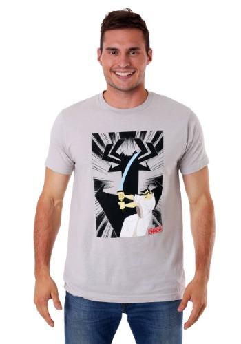 Samurai Jack Strike Pose Men's Gray T-Shirt