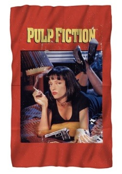 Pulp Fiction Poster Lightweight Fleece Blanket