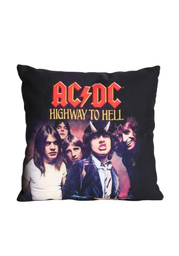 "AC/DC Highway to Hell 14"" x 14"" Throw Pillow"