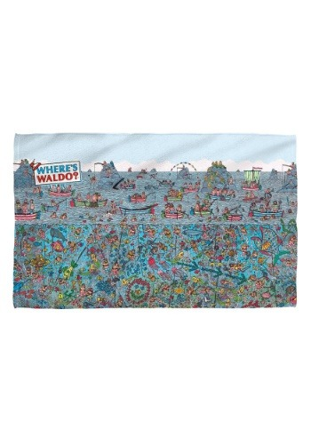 Where's Waldo Sea Me Bath Towel