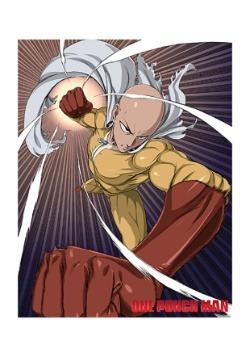 One Punch Man Saitama Sublimation Throw Blanket