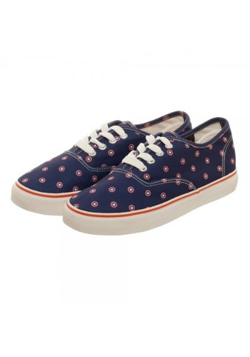 Marvel Captain American Navy Womens Canvas Shoes