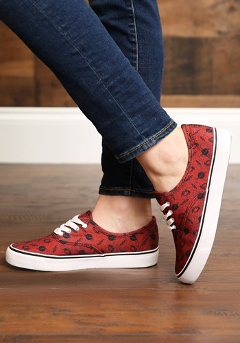 DC Comics The Flash Red Womens Canvas Shoes New