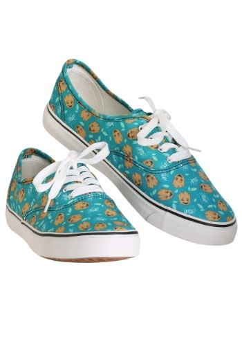 Womens Marvel I am Groot Teal Canvas Shoes
