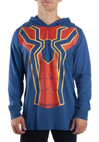 Men's Iron Spider Cosplay Light Weight Hoodie