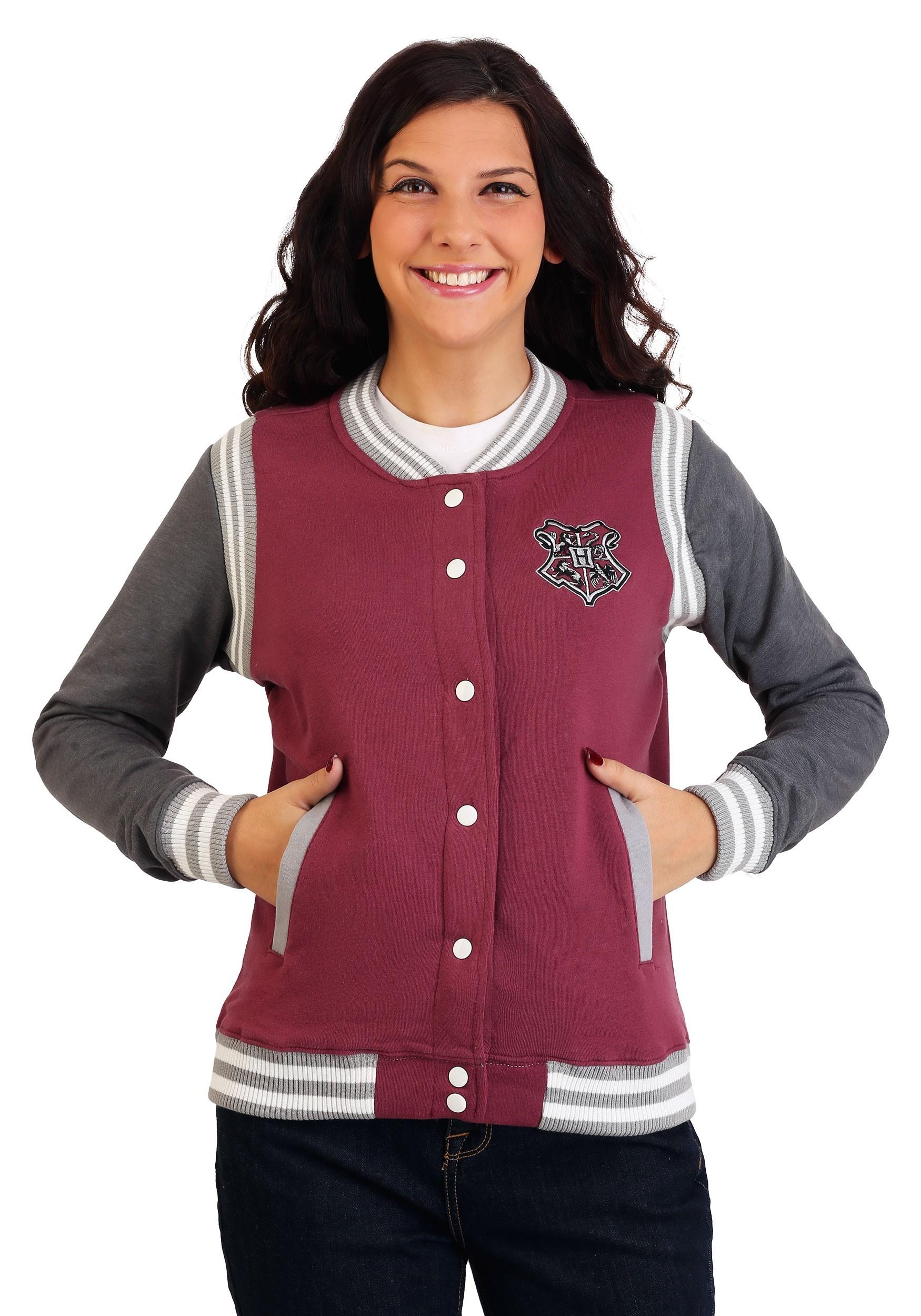 0aae27531e34 Women s Harry Potter Hogwarts Varsity Jacket Update Main