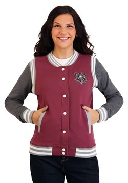 Women's Harry Potter Hogwarts Varsity Jacket Update Main
