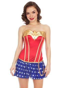 Wonder Woman Foil Satin Corset with Skirt Update