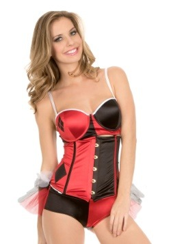 Harley Quinn 4-1 Corset with Removable Tutu