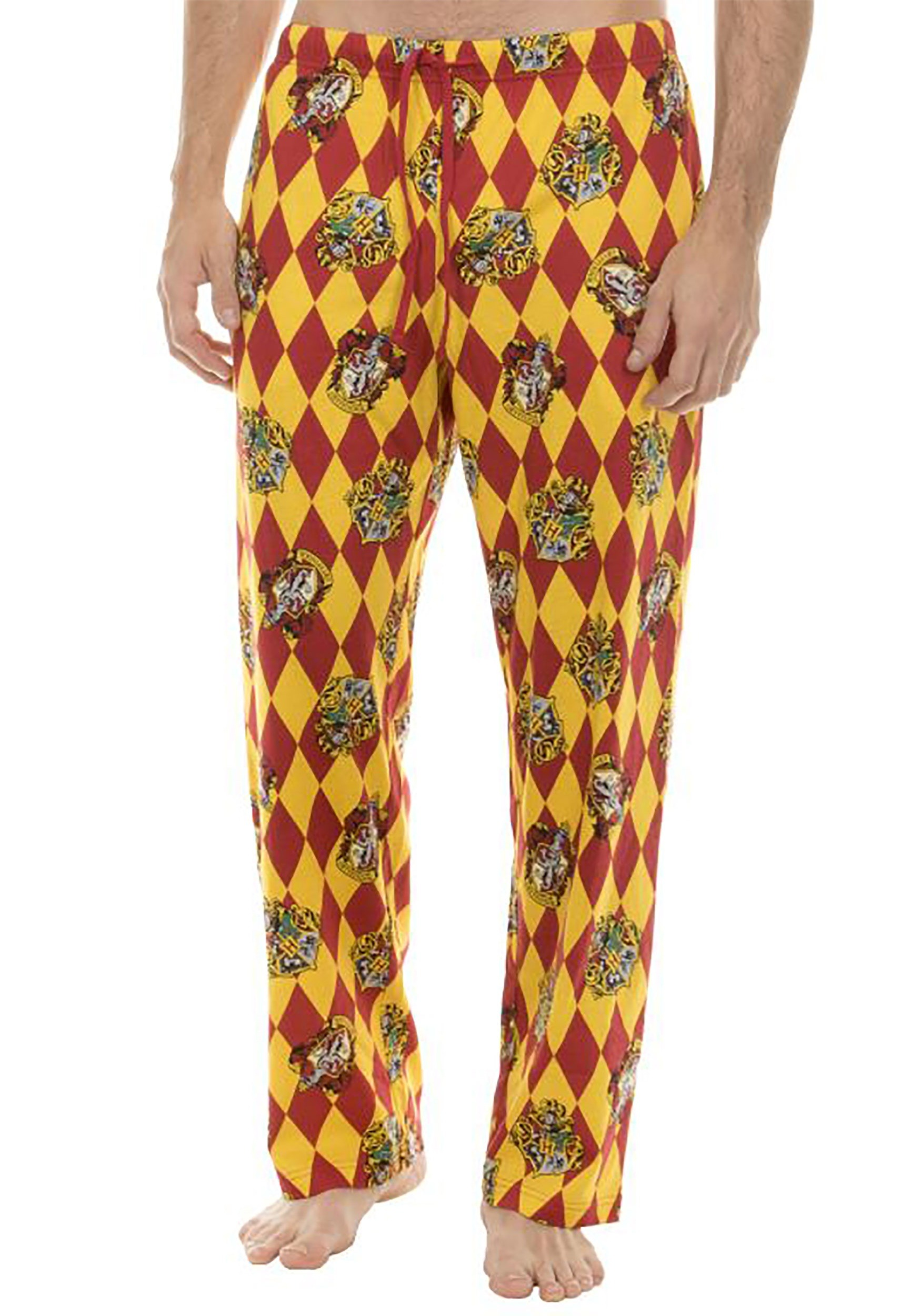 19e6361e7a439 Harry Potter Hogwarts Crest Lounge Pants