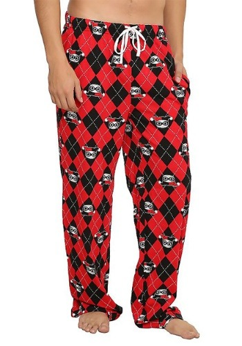 Harley Quinn Argyle All Over Print Lounge Pants
