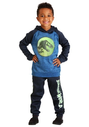 Boys Jurassic World Hoodie Sweatshirt and Pant Set