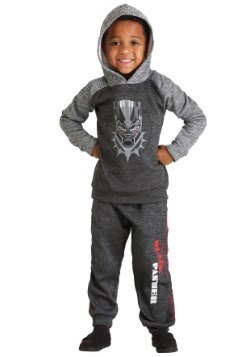 Black Panther Hoodie Boy's Sweatshirt and Pants Set