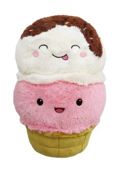 "Squishable Ice Cream Cone 15"" Plush Toy Update1"