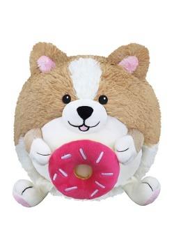 """Squishable Corgi Holding a Donut 7"""" Plush"""
