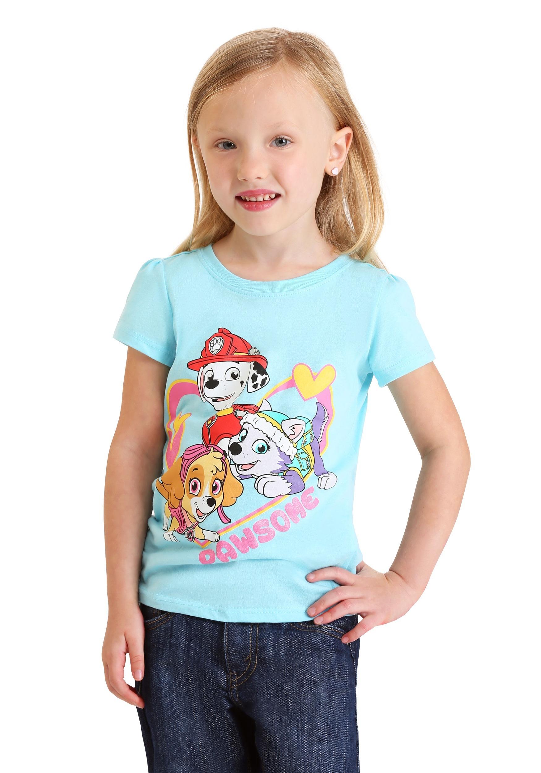 Nickelodeon PAW Patrol Toddler Girl/'s Pajama Shirt Pants /& Shorts Size 3T