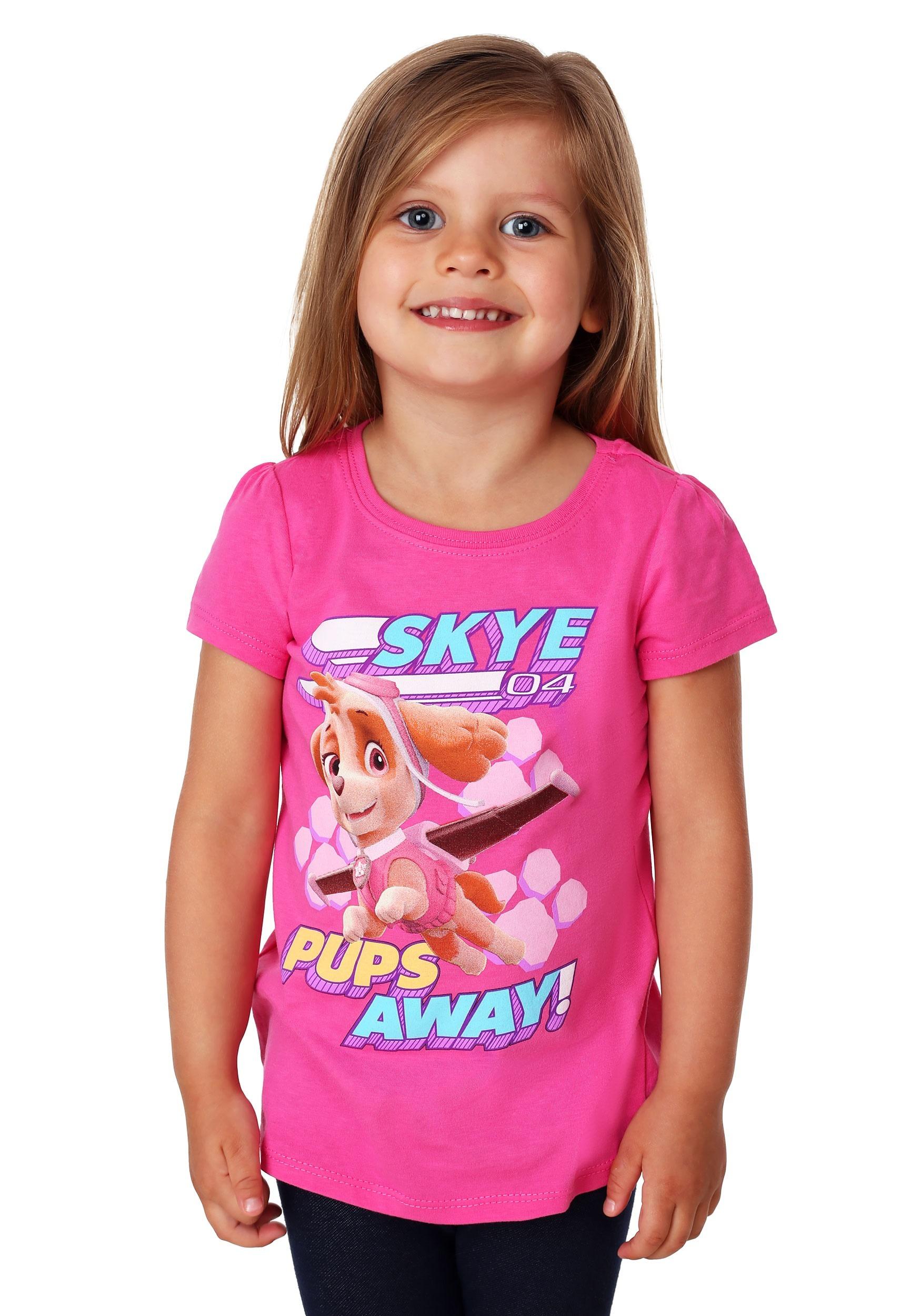 f85efd781decf Girl's Toddler Paw Patrol Pups Away Skye T-Shirt