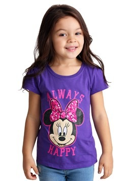 Toddler Minnie Mouse Always Happy Girl's T-Shirt