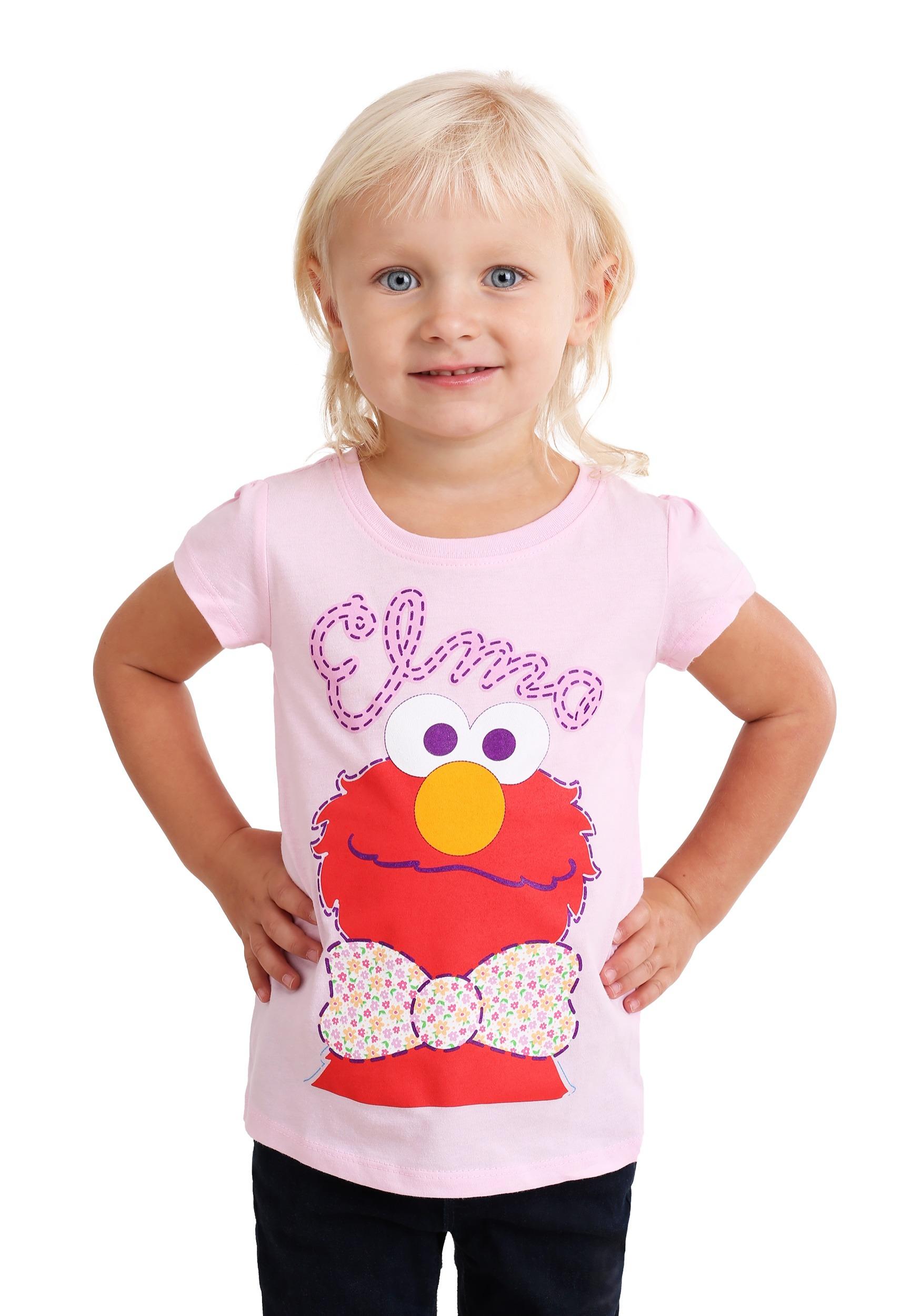 57c3ef9c8a8 Girl s Toddler Sesame Street Elmo with a Bowtie T-Shirt