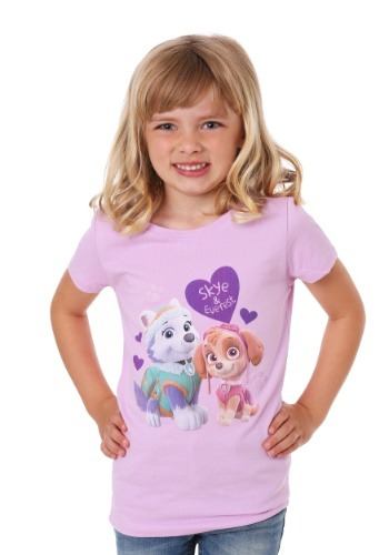 Girl's Kids Paw Patrol Skye and Everest TShirt