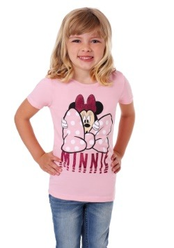 Girl's Kids Minnie Mouse Big Bow T-Shirt