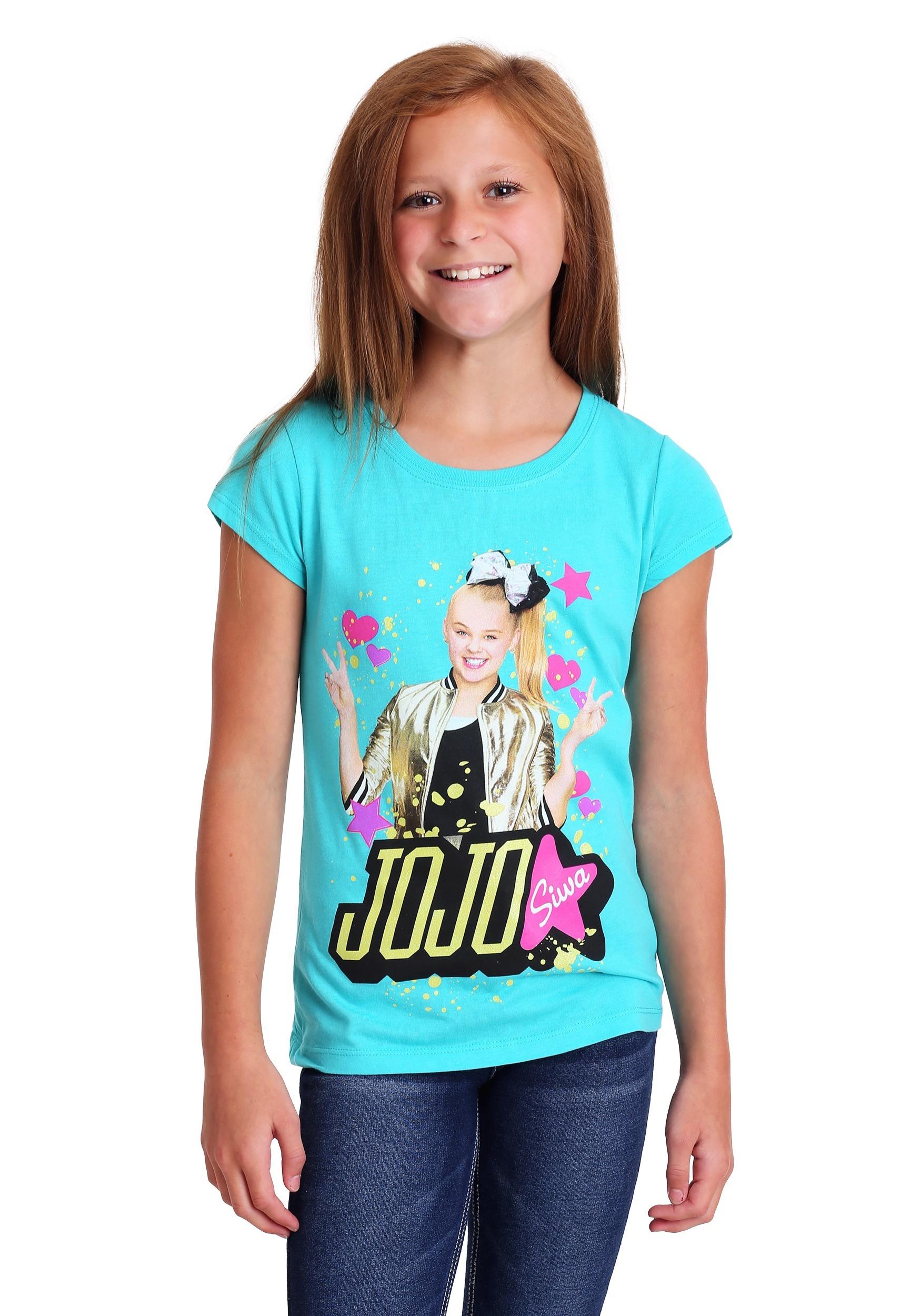 Girls JoJo Siwa Gold Glitter T Shirt