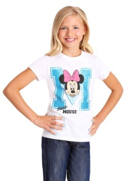 Girl's Minnie Mouse Varsity T-Shirt