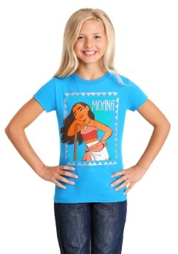 Girl's Disney Framed Moana Blue T-Shirt