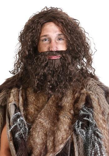 Prehistoric Caveman Beard and Wig