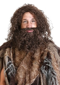 Prehistoric Caveman Beard and Wig