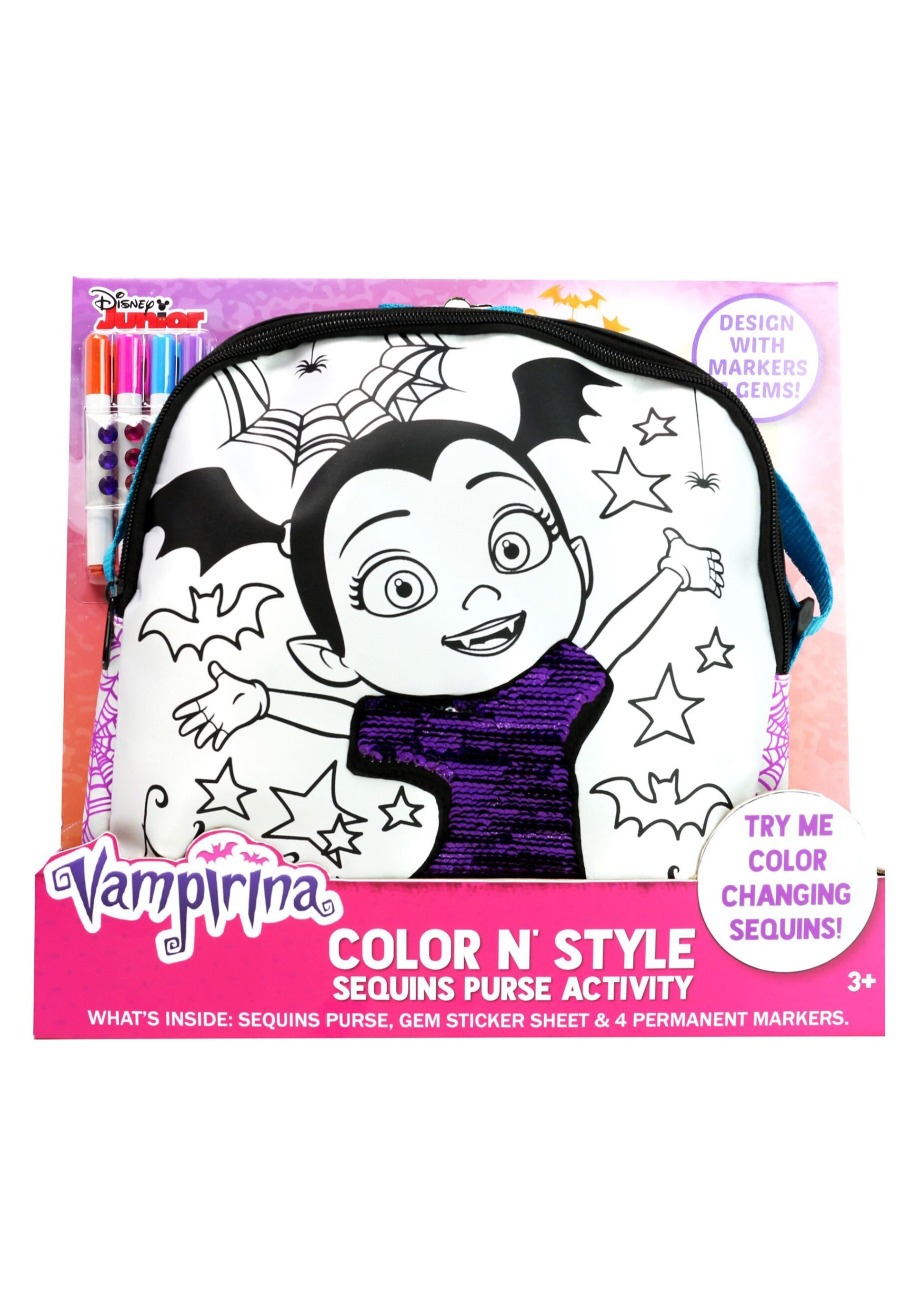 Color N Style Vampirina Sequins Purse (TTC94590-ST TTC94590) photo