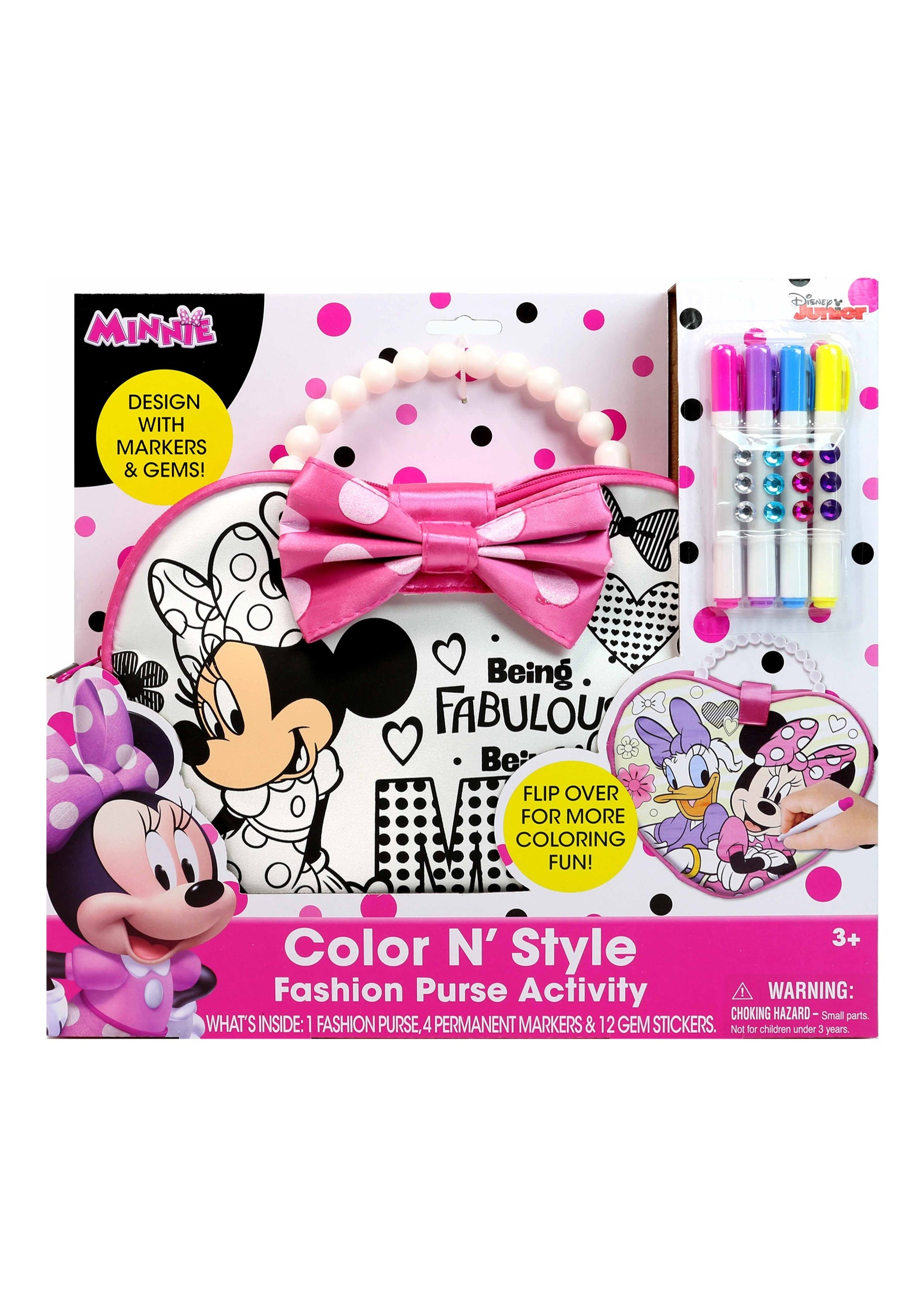 Disney Minnie Mouse Color N Style Purse (TTC92289-ST TTC92289) photo