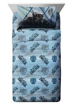 Black Panther Blue Tribe Twin Sheet Set