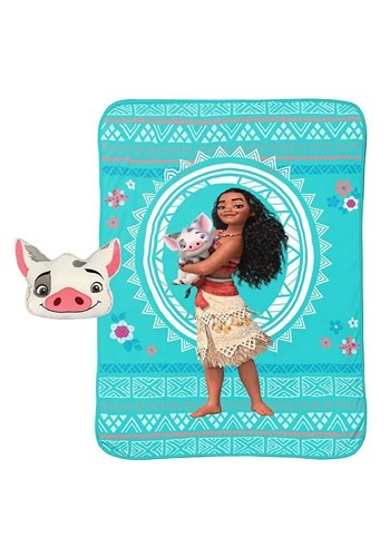 Moana Pua Nogginz Pillow w/ 62x90 Blanket