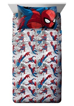 Spiderman Burst Twin Sheet Set