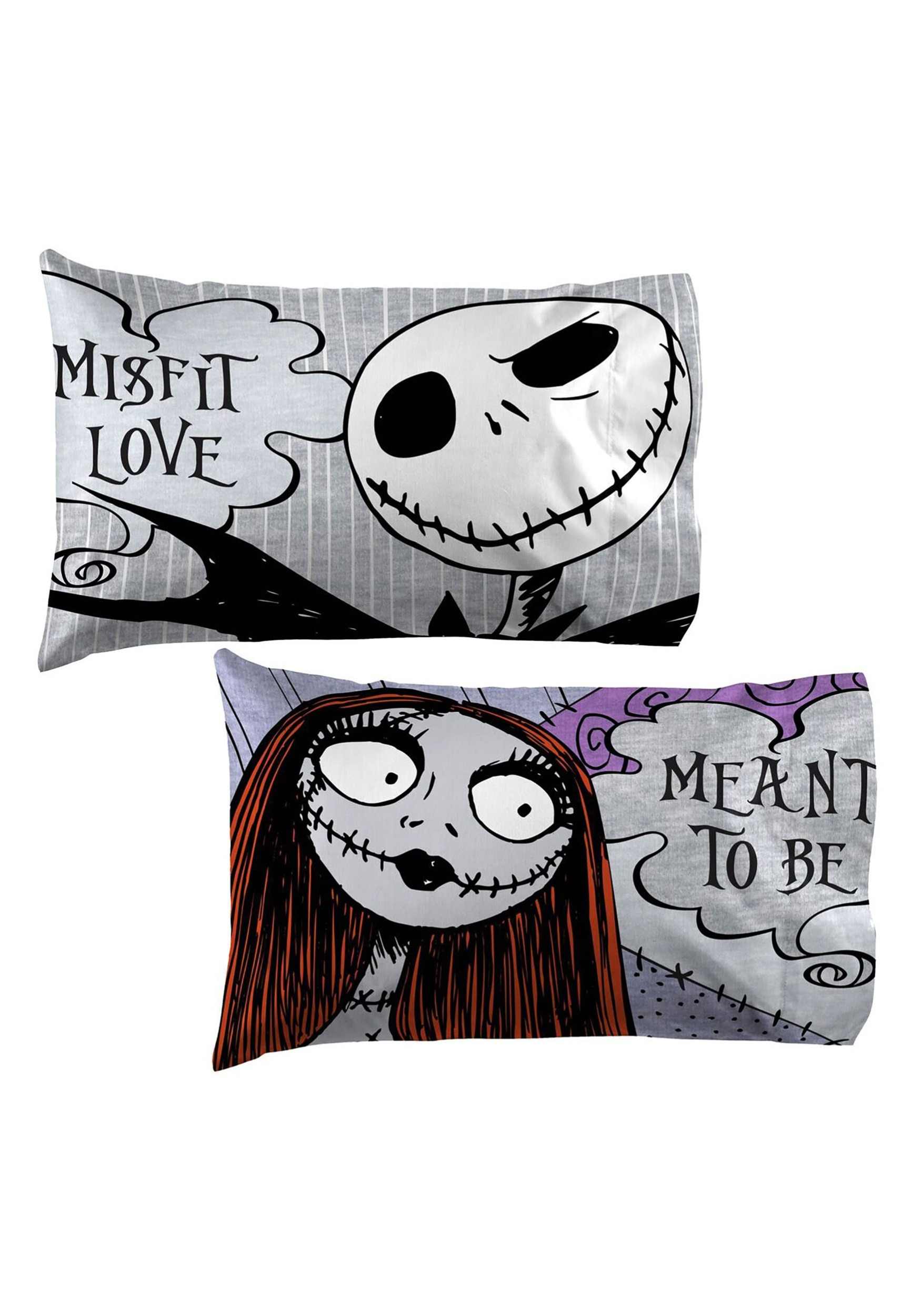 2-Pack Nightmare Before Christmas Meant To Be Pillowcase