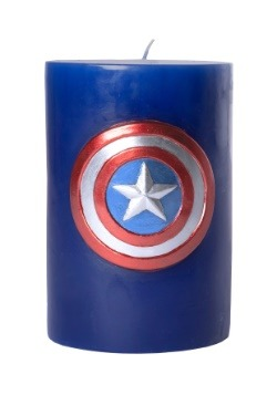 Captain America Sculpted Insignia Candle