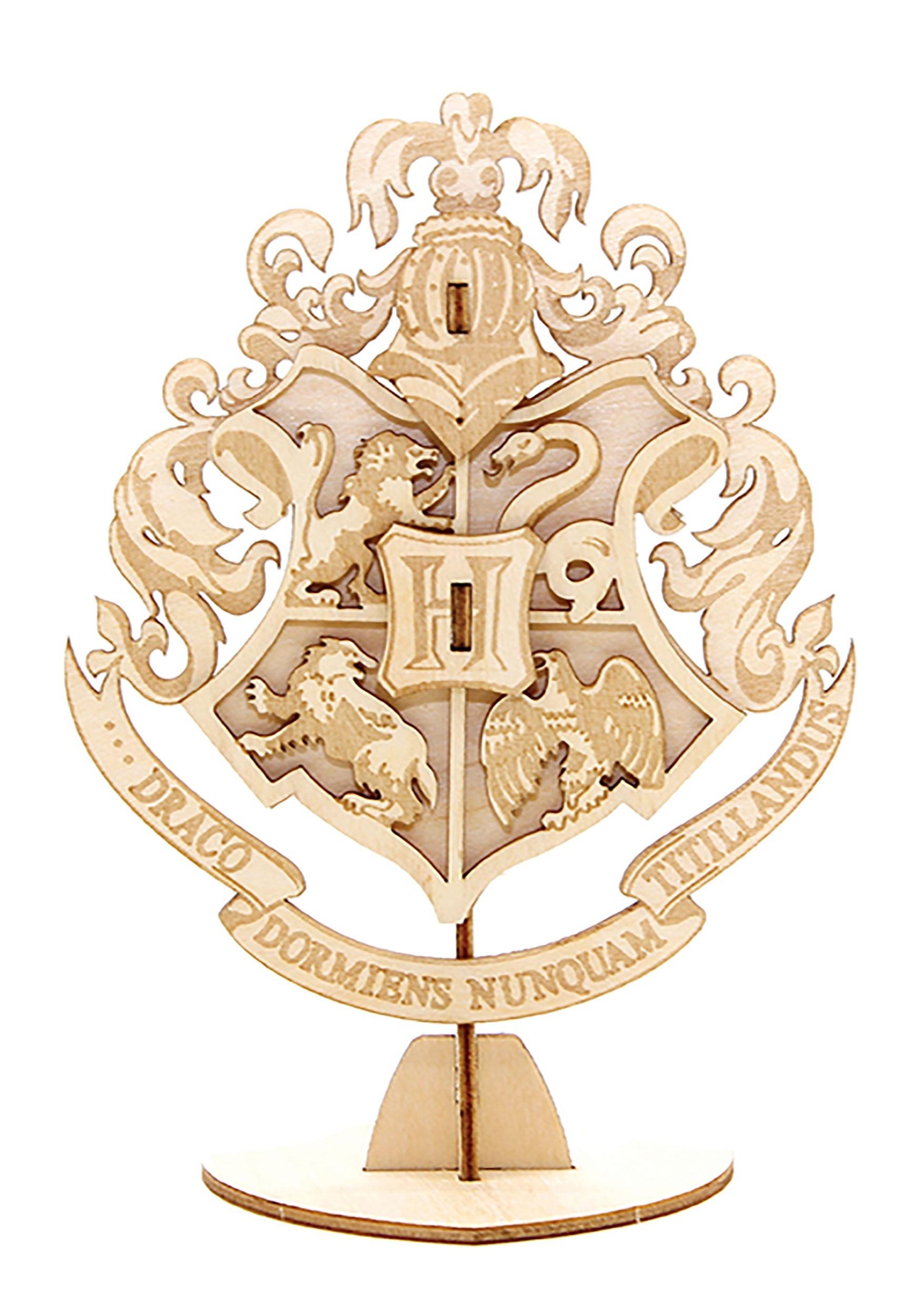 af33e417800 Harry Potter Hogwarts Crest 3D Wood Model   Book1
