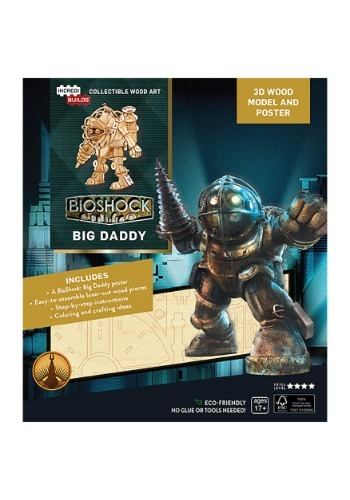 Bioshock Big Daddy 3D Wood Model & Poster