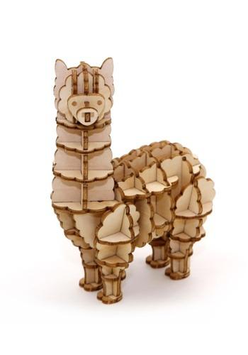 Alpaca 3D Wood Model & Book1