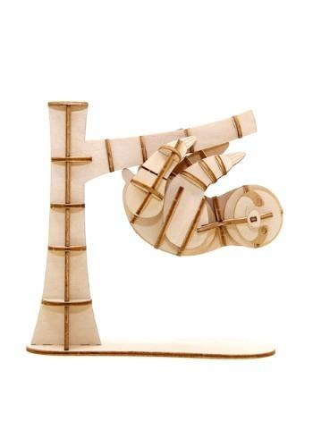 Sloth 3D Wood Model & Book1