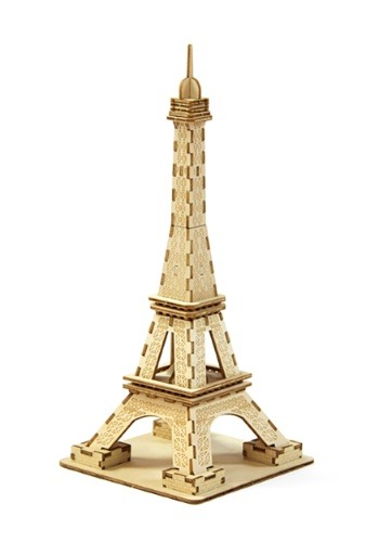 Paris Eiffel Tower 3D Wood Model1
