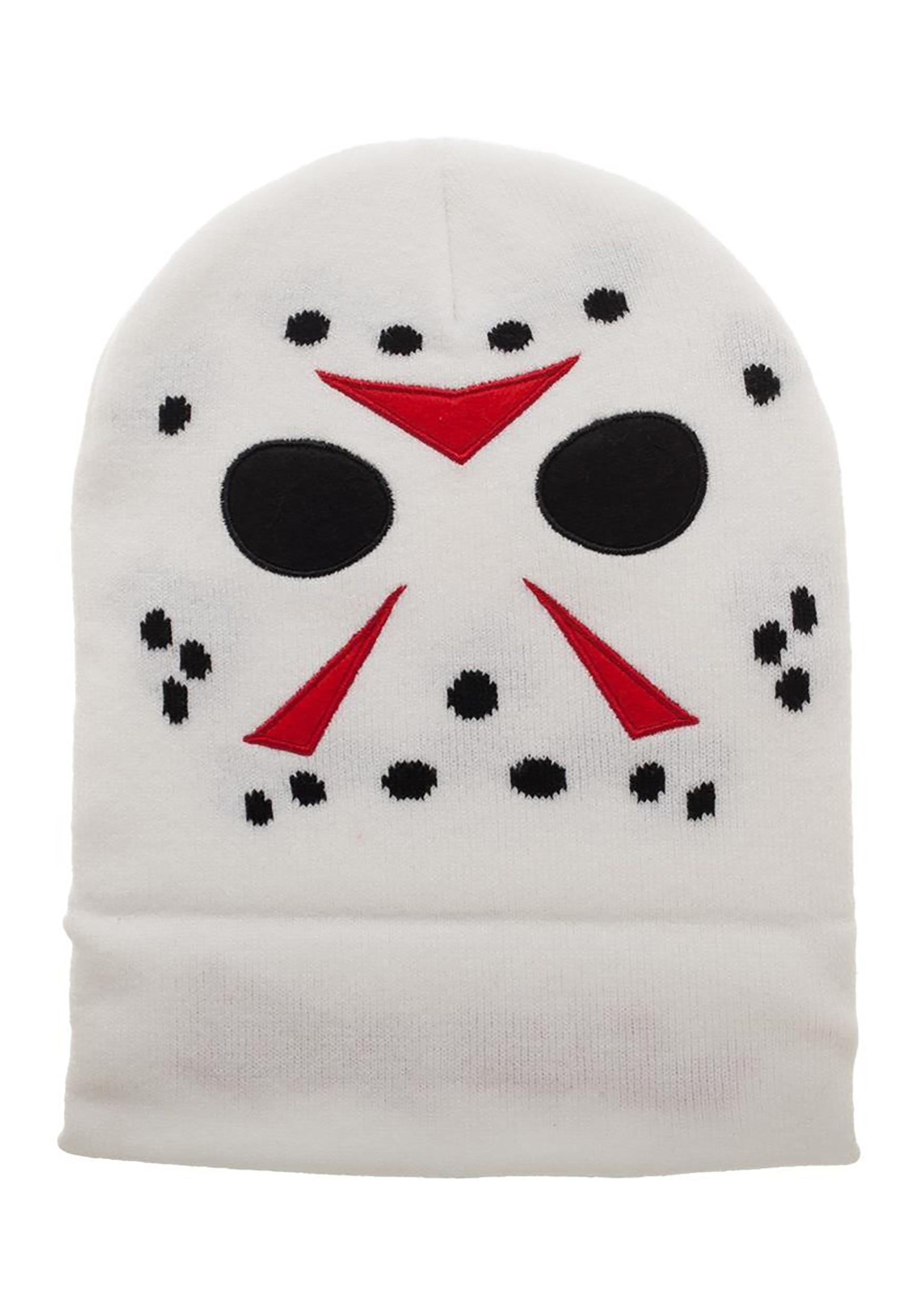 bfc3779a363 Jason Friday the 13th Cosplay White Beanie