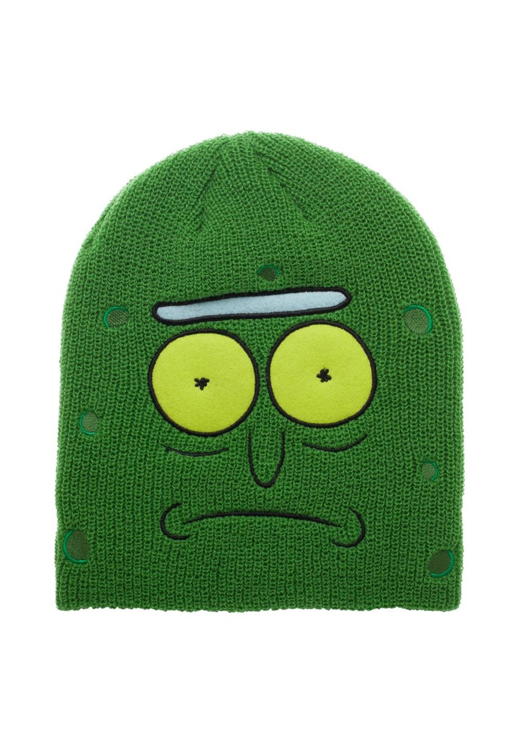 Rick and Morty Pickle Rick Green Slouch Beanie b22f4b6c1e0