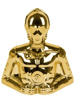 Star Wars C3PO Gold Electroplated Coin Bank Update1