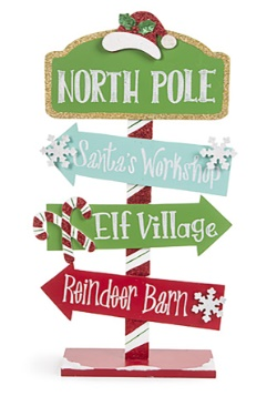 Wall Décor North Pole Direction Arrow Sign Christmas