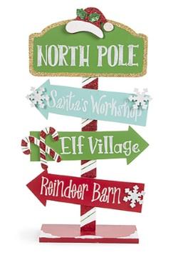 Wall Décor North Pole Direction Arrow Sign Christmas