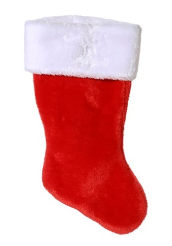 "18"" Christmas Stocking Plush Red"