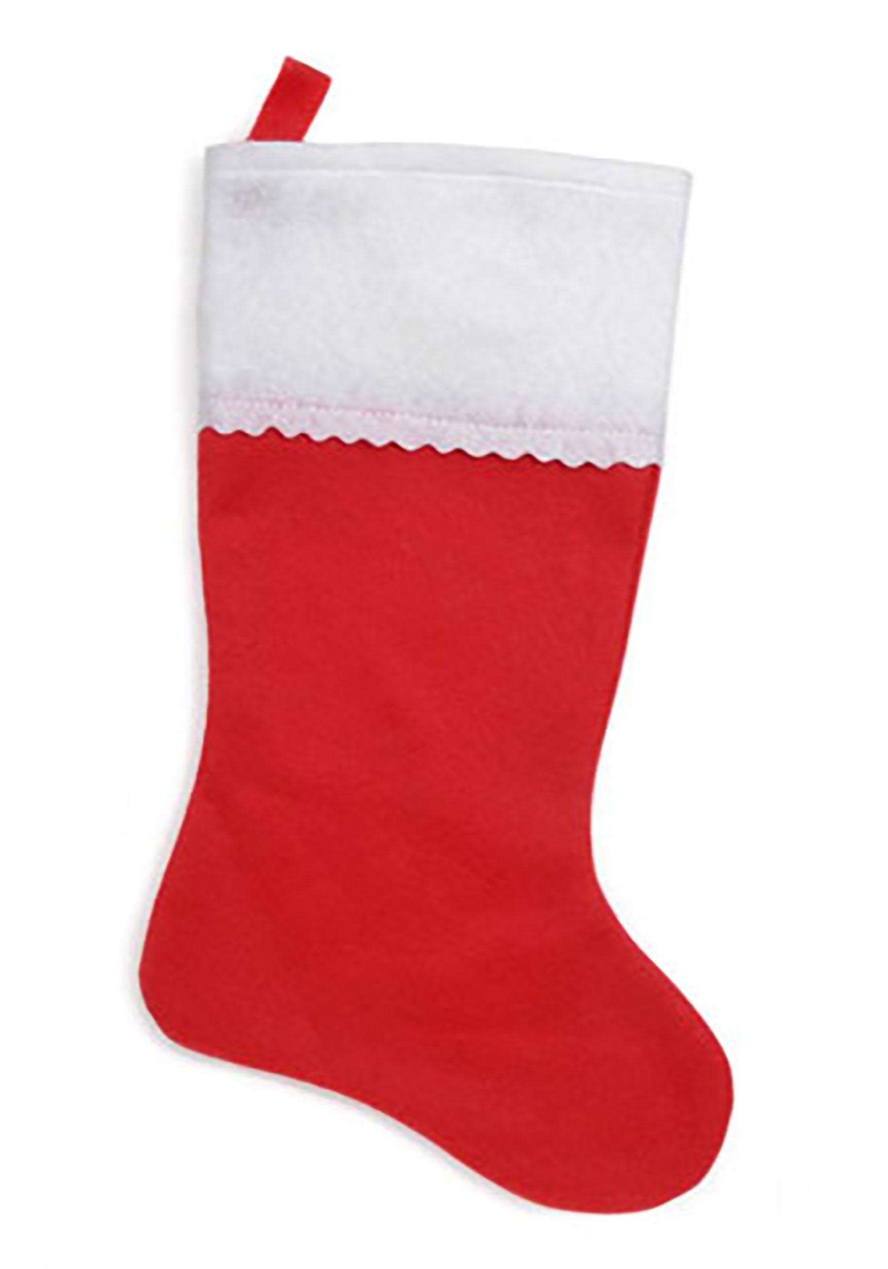 18 christmas stocking red felt